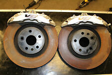 09-14 CTS-V Brembo 6 Piston Brake Kit Front Rotors & Calipers Used OEM GM