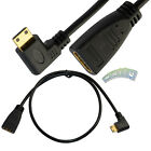 2Ft Mini HDMI Type C Male Right Angle to HDMI 1.4 Female Adapter Cable Cord 1080