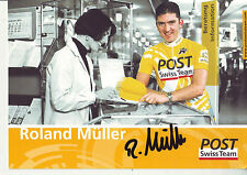 CYCLISME carte cycliste ROLAND MULLER équipe POST SWISS TEAM  signée