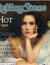 WINONA RYDER Rolling Stone Mag 5/16/91 SEXIEST IN BED