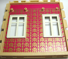 Playmobil 7411 VICTORIAN Mansion Dollhouse Double window wall w/ Red wallpaper