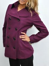 NEW Womens Tommy Hilfiger Wool Blend Coat Purple Large L NWT