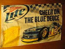 BRAD KESELOWSKI ~ MILLER LITE BEER #2 ~ NEW ~ 2012 ~ 27 X 43 FLAG Banner