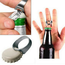 2Pc Stainless Finger Thumb Ring Beer Steel Metal Bottle Opener Bar Pub Tool AX