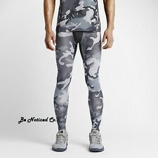 Nike Men's Pro Hypercool Compression Woodland Tights XL Gray Camo Gym New