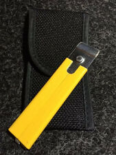 JIFFY Yellow box cutter knife; w/ belt holster; boxes easy to cut