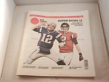 """SUPERBOWL LI PREVIEW SPECIAL EDITION NEWSPAPER """"NEW"""" USA TODAY SPORTS"""