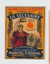 Ancienne étiquette Chicorée La Séculaire Femme