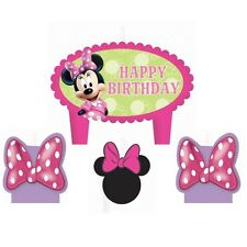 Disney Minnie Mouse Bowtique Birthday Candle Set (Set Of 4pc)