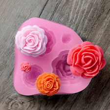 3D Silicone Rose Flower Fondant Cake Decorating Mold Chocolate Modelling Mould