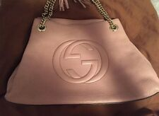 Gucci Soho Blush Leather Chain Strap Medium Bag