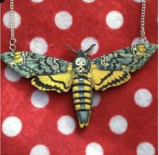 Deaths Head Moth Necklace Wood Handmade