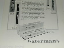1929 Watermans advertisement, Watermans Fountain Pen Patrician set