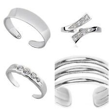 SET OF 4 STERLING SILVER TOE RINGS TOP DESIGNS COMES GIFT BOXED