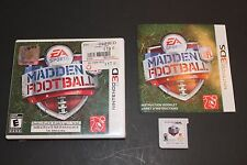 Madden NFL Football (Nintendo 3DS, 2011) Complete, Tested, Works