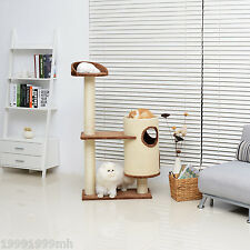 "PawHut 53"" Cat Tree Condo Pet Kitten Furniture Scratching Post Activity Center"