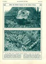 1917 St Pierre Divion Dug-out Shell Supply Ancient Armed War-cars Illustration