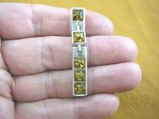 (P38-17) GREEN Baltic AMBER Poland .925 Sterling SILVER rectangle drop PENDANT