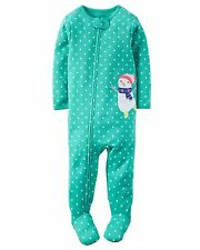 Carter's Girl's Footed Cotton Pajamas Sleeper Snowman  4T