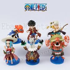 6pcs One Piece Log Collection Vol.2 Luffy Ace Oars Vivi Enel Moriah PVC Figure