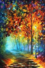 "FOG ALLEY    —  Oil Painting On Canvas By Leonid Afremov Size: 24""x36"" Landscape"