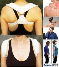 X Large Unisex CLAVIC Brace Back Shoulder Posture Correction Support Belt Gym UK