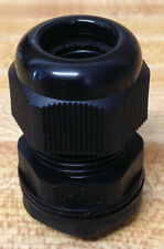 "1/2"" NPT - Strain Relief, Cord Grip, Cable Gland w/nut + gasket - NEW"