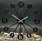 Wanduhr Uhr PINBALL batteriebetrieben in solid schwarz von Koziol - Kunststoff