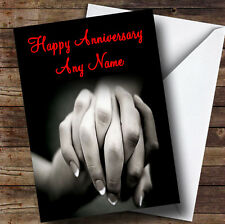Holding Hands Personalised Anniversary Greetings Card