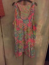 NWT Lilly Pulitzer Monterey Dress Pink Pout Shellabrate Sz XL