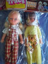 "HTF VINTAGE HONG KONG SMALL FUN WORLD DOLL "" TERRIFIC TRACY ""AND"" PRETTY PEGGY """