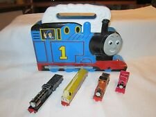 ERTL Thomas the Tank Train Take Along Case Plastic 2001 4 Train Lot Duke Donald