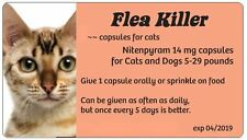 Flea Medication for Cats 5-29 lbs.12 capsules ~~ 14 mg  Generic Capstar (Peach)