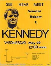 1968 Robert F. Kennedy California Primary LA Arrival Leaflet (6841)