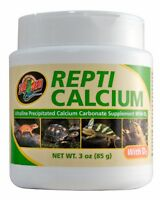 ZOO MED REPTI CALCIUM WITH D3 3 OZ REPTILE SUPPLEMENT FREE SHIPPING IN THE USA