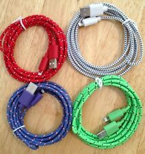 4x 6ft 2M COLOR Long BRAIDED Charger Cable FITS iPhone 6+ 5 5c 5s 6 6s 7 7+ SE