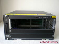 Cisco Switch  WS-C6504-E + 2 x power supply PWR-2700-AC/4 fan tray rack Mount