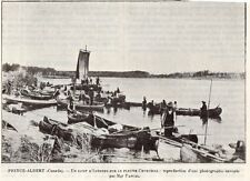 CANADA PRINCE ALBERT CAMP INDIEN FLEUVE CHURCHILL RIVER INDIAN 1908 OLD PRINT