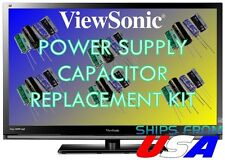 VIEWSONIC VX2835WM LCD MONITOR CAPACITORS REPAIR KIT PSM217-404-H-R U-FIX IT!