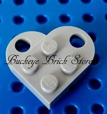 NEW Lego Light BLUISH GRAY HEART for Necklace , Made From 2 Parts
