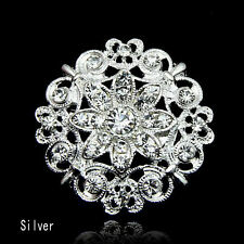 Moden Design Wedding Bridal Rhinestone Crystal Pearl Brooch Bouquet Pin GIR