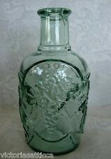 Collectible Sage Green Fruit/Cherries/Pears/Grapes/Apple Bottle-Made in Canada