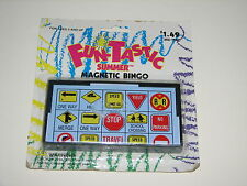 Fun-Tastic Summer Magnetic Travel Car Sign Bingo On the Go Game 1997