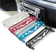 Universal Aluminum Car Bumper Tilt License Number Plate Mount Holder Bracket Bar
