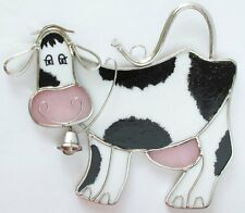 Cow Stained Glass Suncatcher