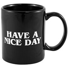 Have A Nice Day Ceramic Middle Finger Coffee Mug Flip Off  Prank Funny Black Cup