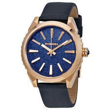 Diesel Blue Dial Ladies Leather Watch DZ5532