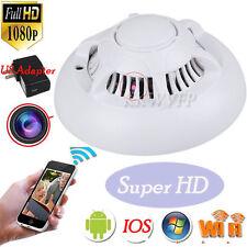 WiFi Spy IP Camera Hidden Smoke Detector Motion Detection Nanny Cam DVR HD 1080P