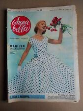 ANNABELLA n°25 1956  Rivista di Moda  - Marilyn Monroe povera triste sola [G746]