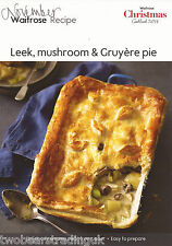 Recipe Card: Leek, Mushroom & Gruyere Pie (Waitrose)